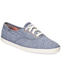 Keds | Blue Women's Quilted Jersey Champion Sneakers | Lyst
