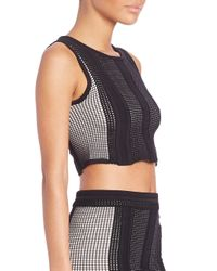 Opening Ceremony - Black Mowed Lines Cropped Top - Lyst