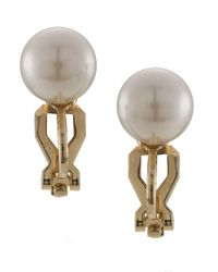 Carolee | The Naomi White Faux Pearl Stud Clip On Earrings | Lyst