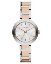 DKNY - Metallic 'stanhope' Round Bracelet Watch - Lyst