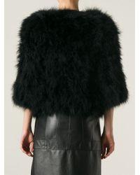 Giorgio Brato - Black Cropped Feathered Jacket - Lyst