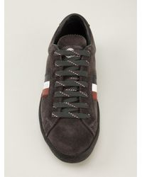 Moncler - Gray Lace Up Trainer for Men - Lyst