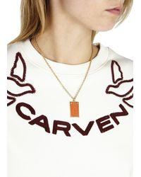 Marc By Marc Jacobs | Orange Enamel Chain Necklace | Lyst