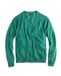J.Crew - Green Italian Cashmere Cardigan Sweater for Men - Lyst
