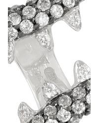 Stephen Webster - Metallic Jewels Verne Shark Jaw 18-Karat White Gold Diamond Ring - Lyst