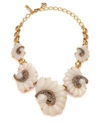 Oscar de la Renta - Metallic Swirl Graduated Necklace - Lyst