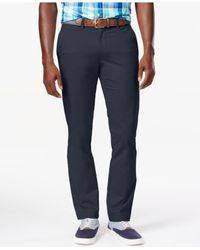 Tommy Hilfiger   Blue Slim-fit Chino Pants for Men   Lyst