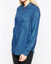 Native Youth | Blue Denim Tencel Shirt | Lyst