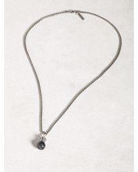 John Varvatos - Blue Cat Eye Necklace for Men - Lyst
