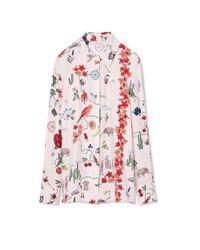 Tory Burch | Pink Silk Shirt | Lyst