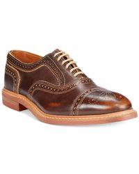 Allen Edmonds - Brown Strandmok Cap-Toe Oxfords for Men - Lyst
