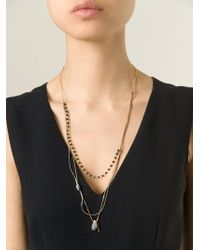 Puro Iosselliani | Metallic Multi Chain Necklace | Lyst