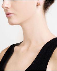 Dezso by Sara Beltran - Metallic Pietersite, Diamond And Rose Gold Earrings - Lyst