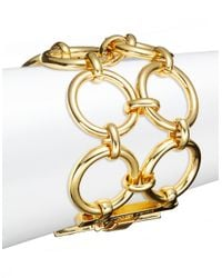 Trina Turk | Metallic Golden Ring Two-row Bracelet | Lyst