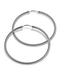 David Yurman | Metallic Cable Classics Extra Large Hoop Earrings | Lyst