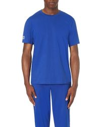 Ralph Lauren | Blue Embroidered-logo Cotton-jersey T-shirt for Men | Lyst