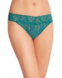 Hanky Panky - Green Signature Lace Original-rise Thong - Lyst