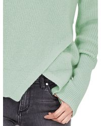 Banana Republic | Green Cutout-front Crew Pullover | Lyst