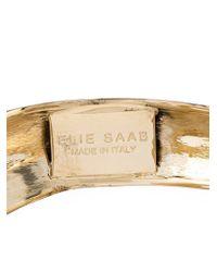 Elie Saab   Metallic Curved Cuff   Lyst