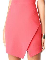 Bebe - Pink Jacquard Asymmetric Dress - Lyst