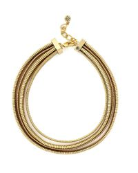 BCBGeneration | Metallic Multi-row Coil Necklace | Lyst