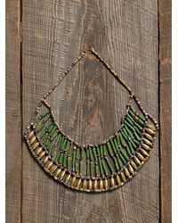 Free People - Green Vintage Beaded Necklace - Lyst
