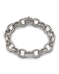 Monica Rich Kosann | Metallic 18k White Gold Marilyn Link Bracelet | Lyst