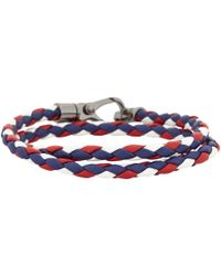 Tod's - Blue Tritone My Colors Wrap Bracelet for Men - Lyst