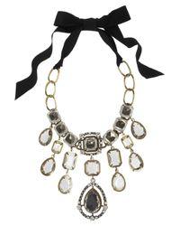 Lanvin Metallic Cassiopee Goldtone Swarovski Crystal Necklace
