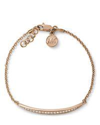 Michael Kors - Pink Matchstick Line Bracelet - Lyst