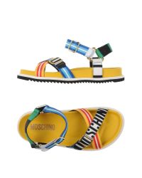 Moschino | Yellow Sandals | Lyst