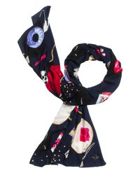 kate spade new york | Multicolor Party Table Scene Scarf | Lyst