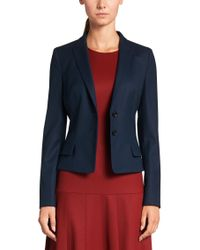 HUGO | Blue Blazer In New-wool Blend: 'almali' | Lyst