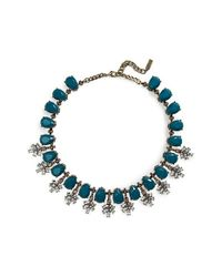 BaubleBar | Blue Crystal Collar Necklace - Teal | Lyst