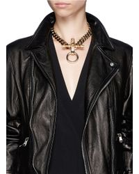 Givenchy | Metallic 'obsedia' Stone Pendant Chain Necklace | Lyst