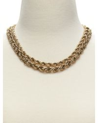 Banana Republic - Metallic Woven Chain Necklace - Lyst