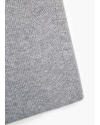 Mango - Gray Wool-blend Knit Sweater - Lyst