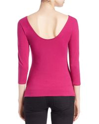 Guess | Pink Scoop-back Top | Lyst