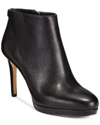 Michael Kors | Black Michael Sammy Platform Ankle Booties | Lyst