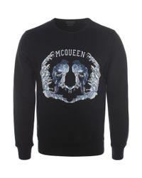 Alexander McQueen - Blue Embroidered Bird Sweatshirt for Men - Lyst