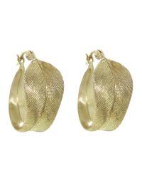 Annette Ferdinandsen   Metallic Feather Hoop Earring   Lyst