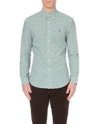 Ralph Lauren | Green Gingham Slim-fit Cotton Shirt for Men | Lyst