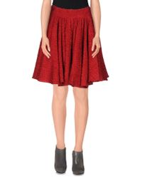 Dolce & Gabbana - Red Knee Length Skirt - Lyst