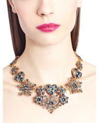 Oscar de la Renta | Blue Navy Swarovski Crystal Pavé Hearts & Stars Necklace | Lyst