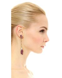 Oscar de la Renta | Purple Tulip Pave Earrings | Lyst