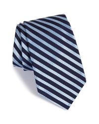 Ike Behar | Blue 'party Stripe' Silk Tie for Men | Lyst