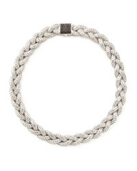 John Hardy | Metallic Black Sapphire Braided Chain Necklace | Lyst