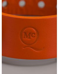 McQ | Orange Embossed Leather Bracelet | Lyst