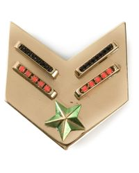 Iosselliani - Metallic 'Full Metal Jewels' Brooch - Lyst