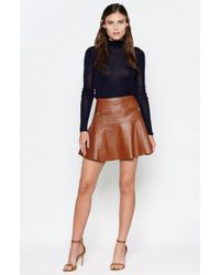 Joie | Brown Briza B Leather Skirt | Lyst